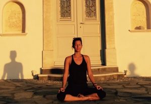 yoga sunset meditation greece with yoga escapes