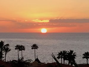 canary islands sunset during our yoga retreat with yoga escapes