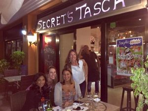 dinner at secrets tasca in tenerife with the yoga escapes team