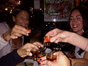 drinks in tenerife with the yoga escapes team
