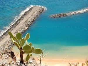 beautiful white sand beach in tenerife canary islands
