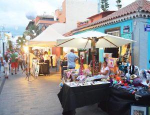 outdoor market in tenerife