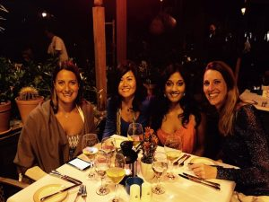 yoga group dinner in the canary islands with yoga escapes