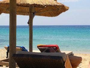 elia beach in mykonos greece on a luxury yoga retreat with yoga escapes