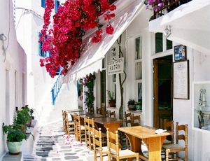 explore mykonos town streets on your yoga retreat