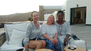 relaxing after yoga in mykonos