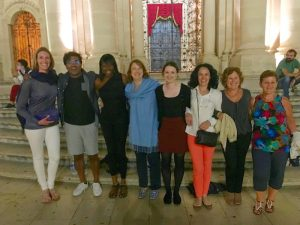 walking around siracusa town on a yoga retreat in italy