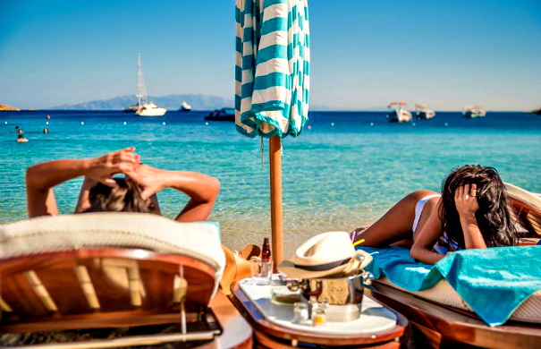 nammos beach bar mykonos greece