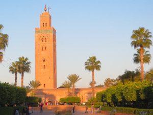 main tower in marrakesh medina