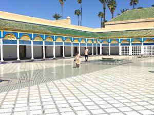 courtyard in a riad in marrakesh morocco