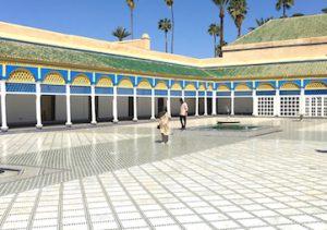 riad courtyard marrakesh morocco yoga retreat