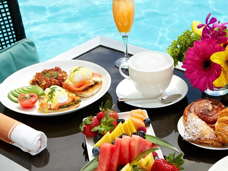 breakfast at a luxury yoga retreat in croatia