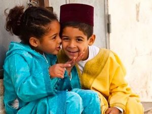 children playing in morocco