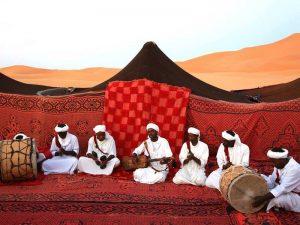 music in the desert in morocco