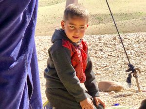 berber boy in the agafay desert morocco