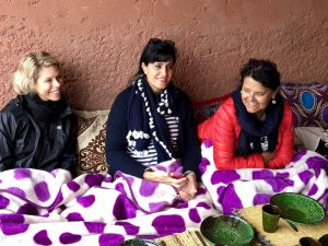 lunch break with berber food in morocco
