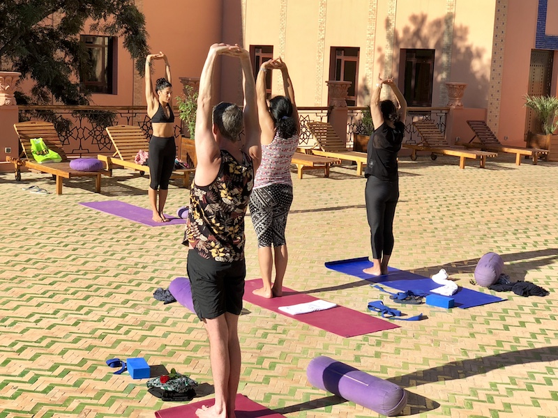 standing tall yoga retreat morocco
