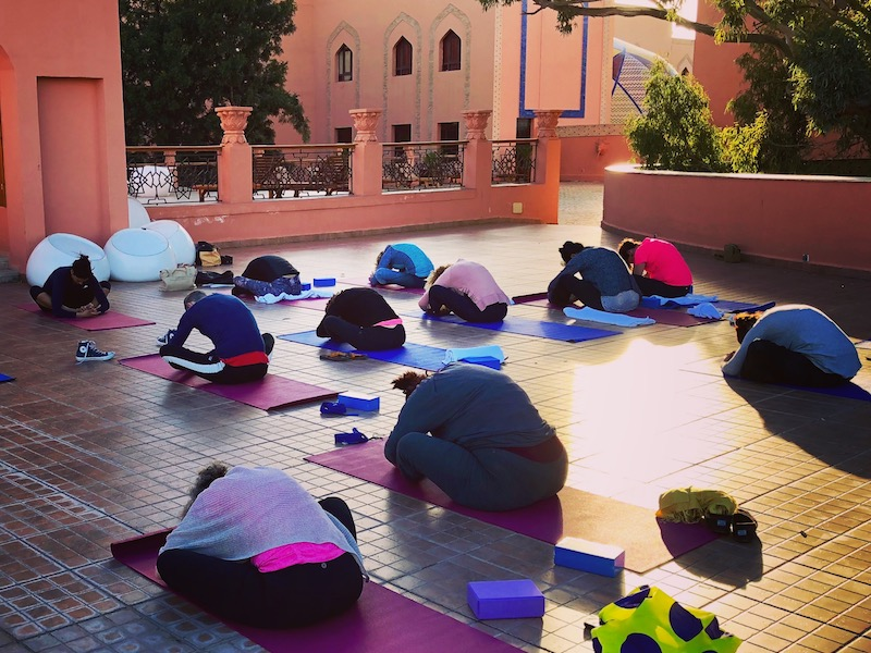 yin yoga class morocco yoga retreat