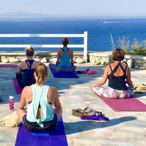minfulness meditation on a luxury yoga retreat