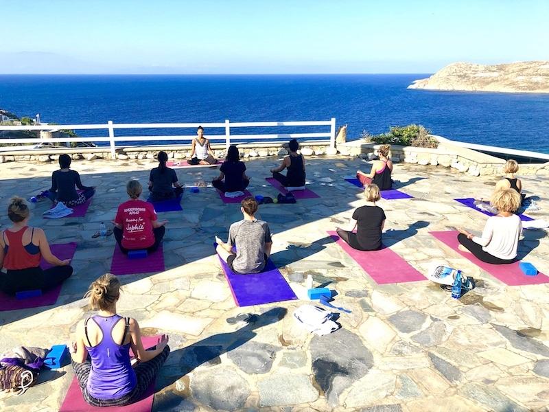 mindfulness meditation in mykonos greece on a luxury yoga retreat