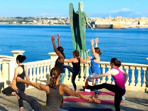 balances on a 5* yoga retreat in sicily italy