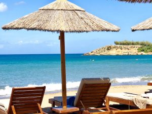 our private beach on a yoga retreat in crete greece with yoga escapes