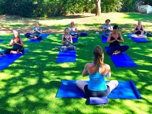 Yin yoga class in Croatia