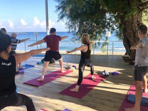 yoga by the sea on a yoga retreat in crete greece with yoga escapes