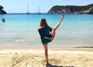 yoga on the beach menorca spain