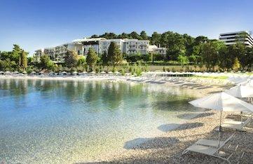 beach on a yoga retreat in croatia