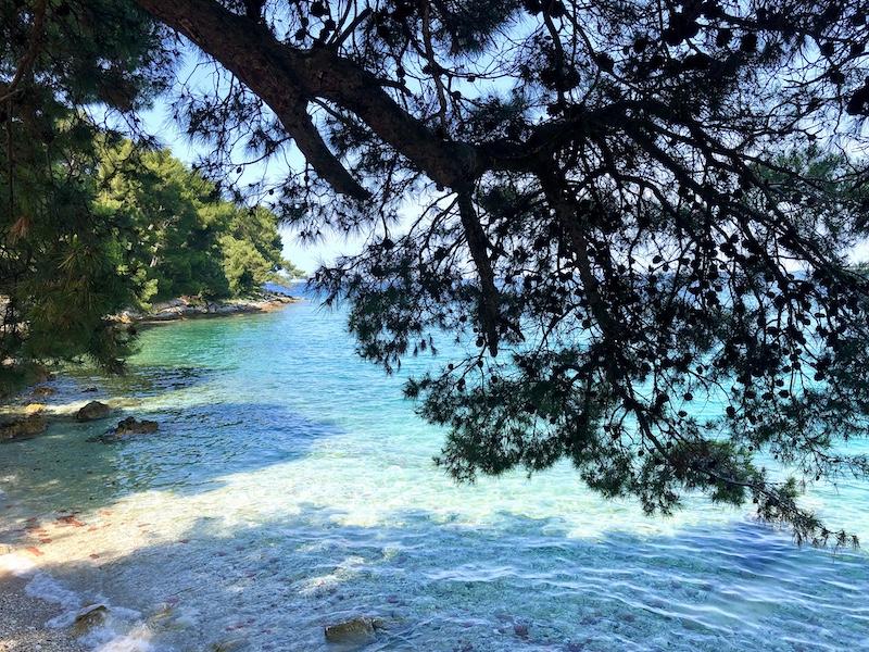 blue sea in croatia on a yoga retreat