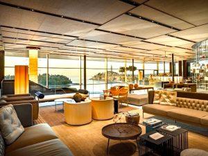 lobby 5 star grand park hotel yoga retreat Croatia