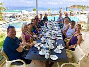breakfast at kalliston atlantica on a yoga retreat in crete greece