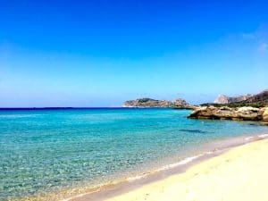 falasarna beach on a yoga retreat in crete greece