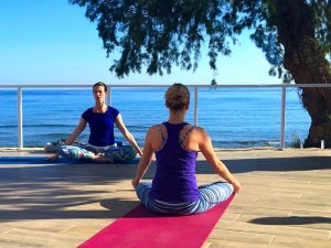 meditation and stillness on a luxury yoga retreat in crete greece