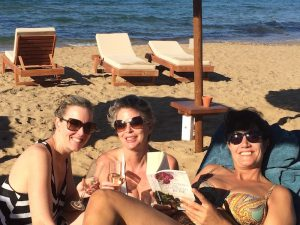 relaxing on the beach in crete greece with yoga escapes retreats
