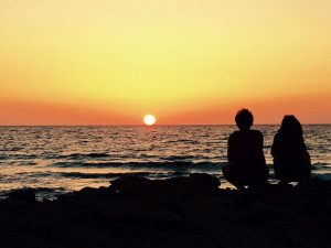 sunset at falasarna beach on a greece yoga retreat in crete