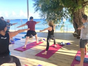 yoga by the sea on a yoga retreat in crete greece with yoga escapes