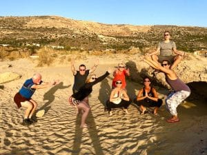 yogis on a yoga retreat crete greece